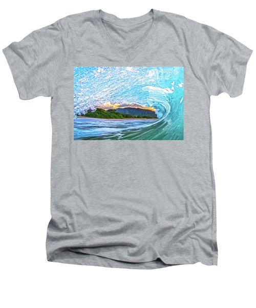 Mountains To The Sea Men's V-Neck T-Shirt by James Roemmling