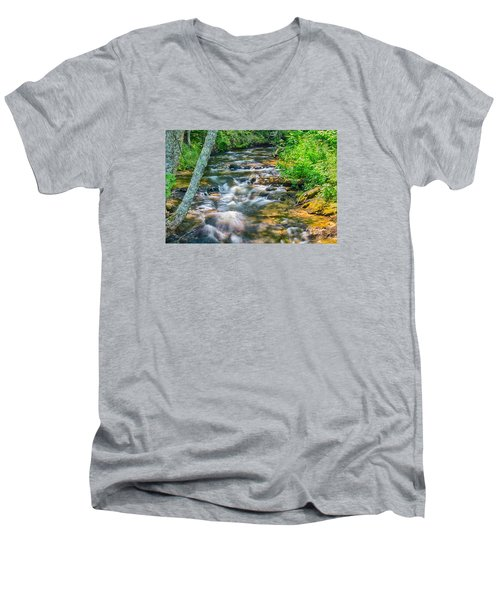 Mouth Of The Hurricane River Men's V-Neck T-Shirt