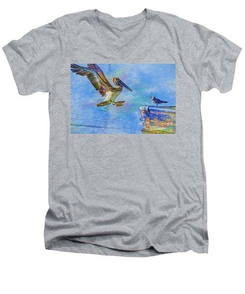 Move Over Men's V-Neck T-Shirt by Deborah Benoit