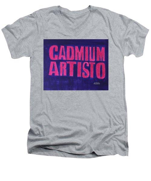 Movie Logo Cadmium Artisto Men's V-Neck T-Shirt by Joshua Maddison