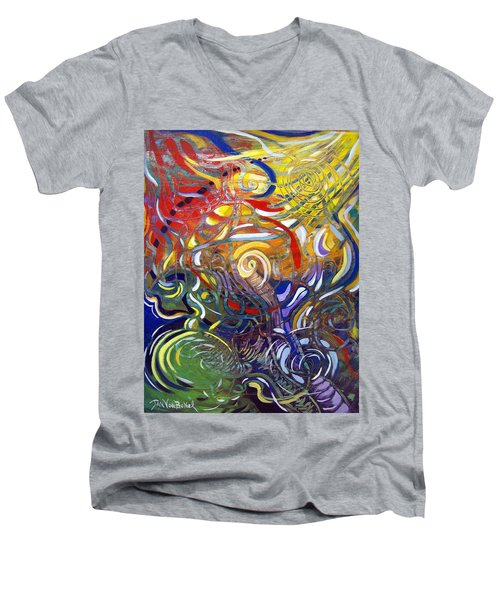 Moving Color Men's V-Neck T-Shirt