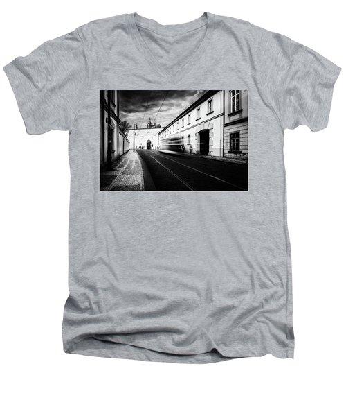 Street Tram Men's V-Neck T-Shirt by M G Whittingham