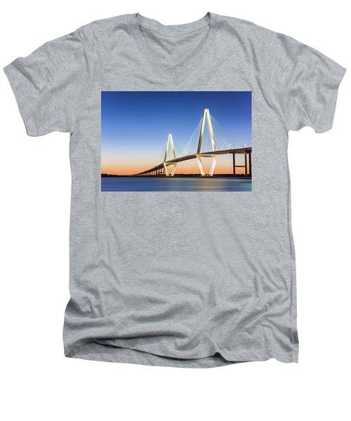 Moving Yet Still Men's V-Neck T-Shirt by Jon Glaser