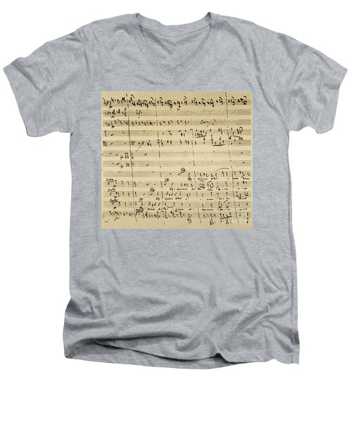 Mozart: Requiem Excerpt Men's V-Neck T-Shirt