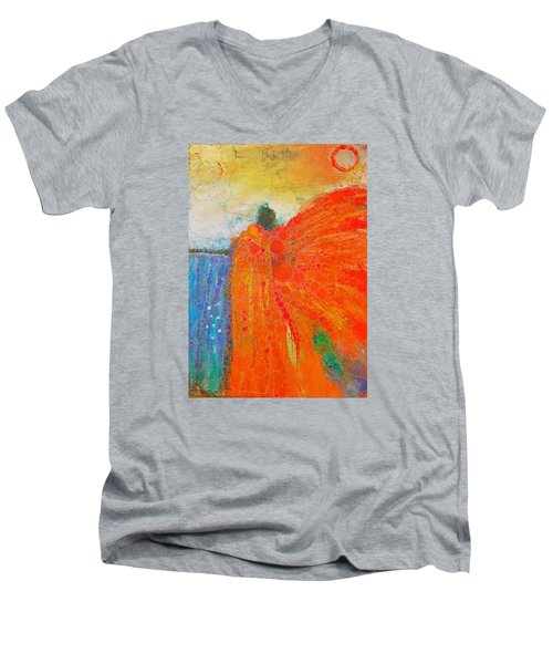 Mprints - Angel Of The Morning Men's V-Neck T-Shirt