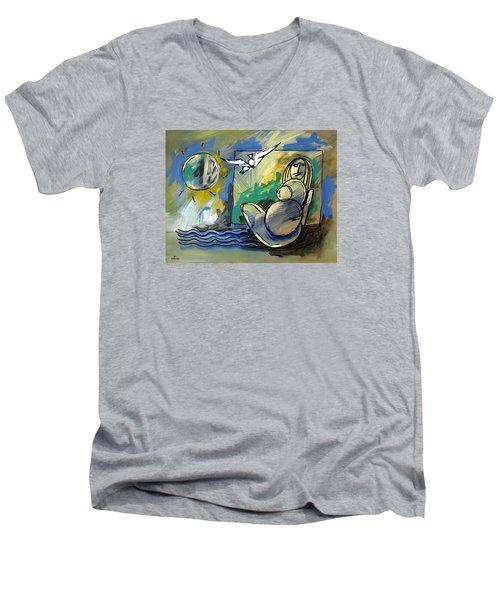 Mr Ameeba 10 Men's V-Neck T-Shirt