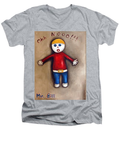 Mr. Bill Men's V-Neck T-Shirt by Leah Saulnier The Painting Maniac