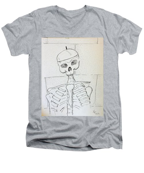 Mr Cooper's Aide Men's V-Neck T-Shirt by Loretta Nash