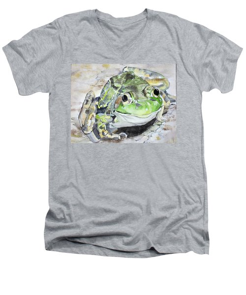 Mr Frog  Men's V-Neck T-Shirt