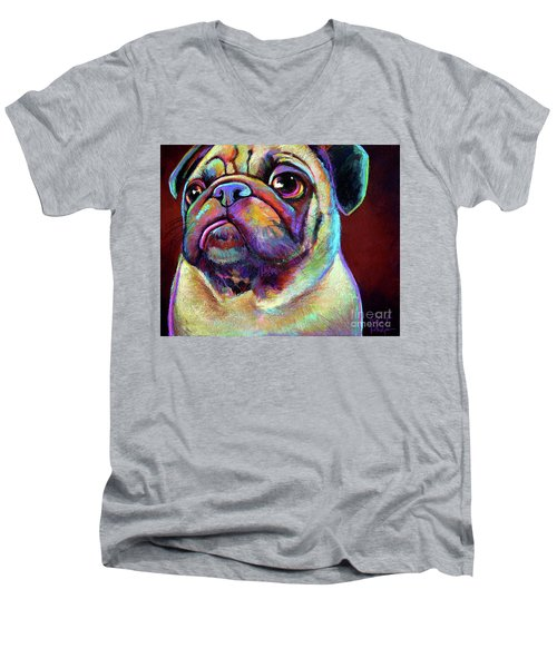 Mr. Pugnacious  Men's V-Neck T-Shirt