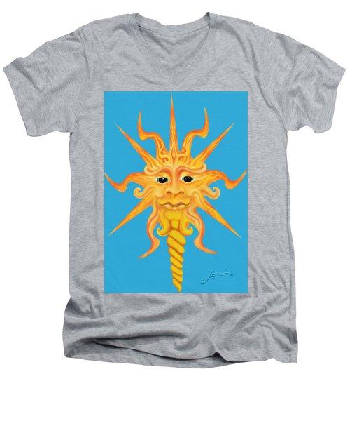 Mr. Sunface Men's V-Neck T-Shirt