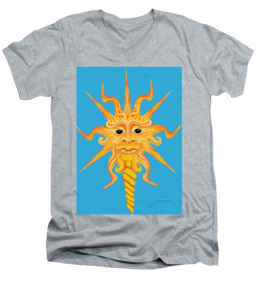 Mr. Sunface Men's V-Neck T-Shirt