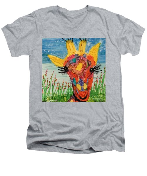 Mrs Giraffe Men's V-Neck T-Shirt