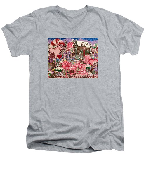 Ms. Elizabeth Peppermint World Men's V-Neck T-Shirt