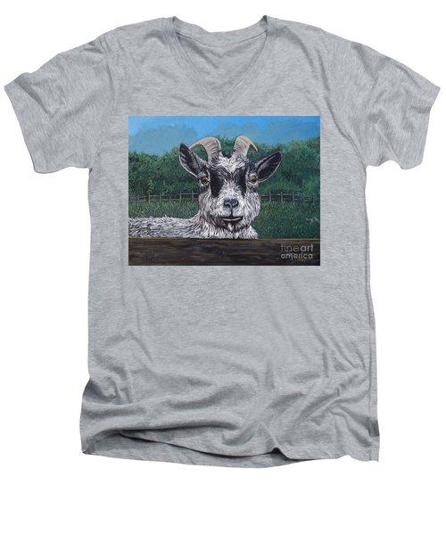 Ms Frisky  Men's V-Neck T-Shirt by Reb Frost