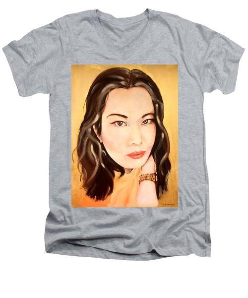 Ms Lim Men's V-Neck T-Shirt