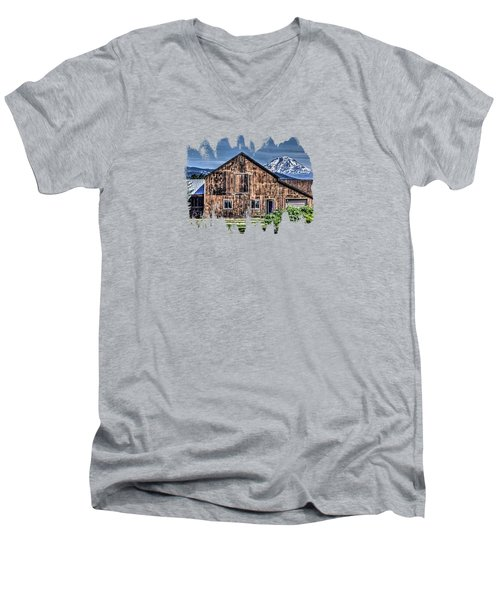 Men's V-Neck T-Shirt featuring the photograph Mt. Adams by Thom Zehrfeld