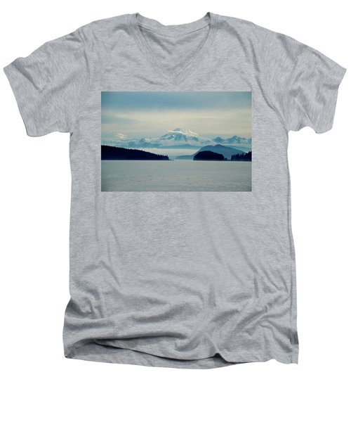 Mt. Baker Washington Men's V-Neck T-Shirt