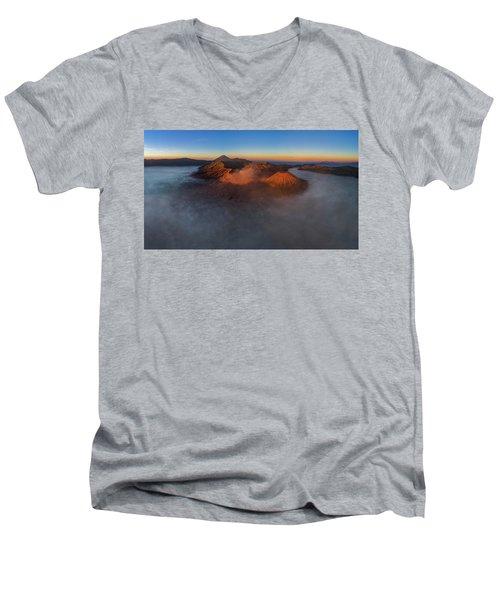 Mt Bromo Sunrise Men's V-Neck T-Shirt