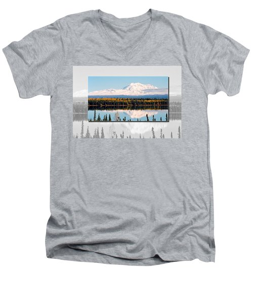 Men's V-Neck T-Shirt featuring the photograph Mt. Drum - Alaska by Juergen Weiss