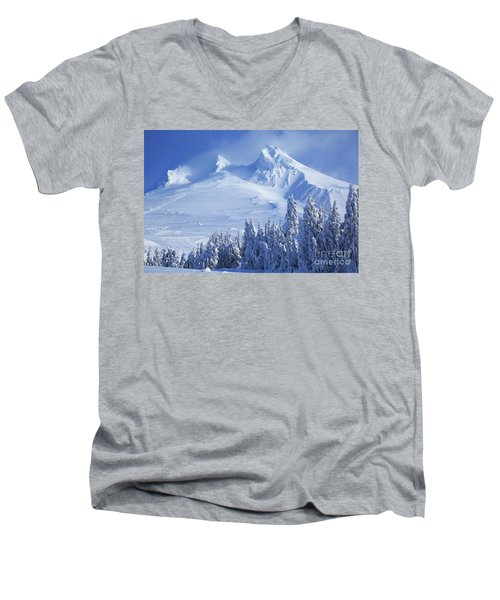Mt. Hood Men's V-Neck T-Shirt