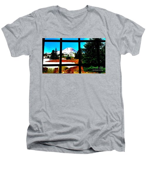 Mt. Hood View Men's V-Neck T-Shirt