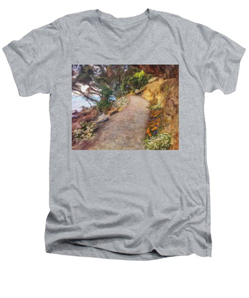 Mt. Maunganui Base Walk Men's V-Neck T-Shirt