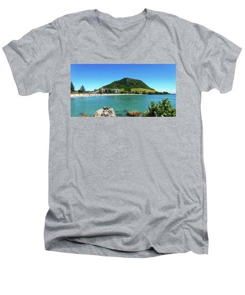 Mt Maunganui Beach 7 - Tauranga New Zealand Men's V-Neck T-Shirt