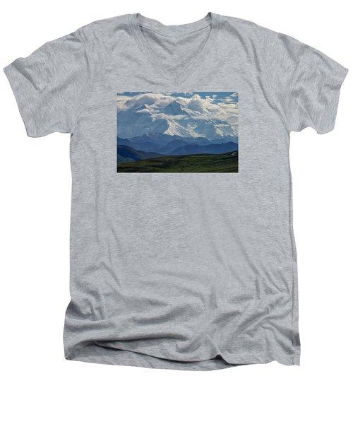 Denali Men's V-Neck T-Shirt by Gary Lengyel