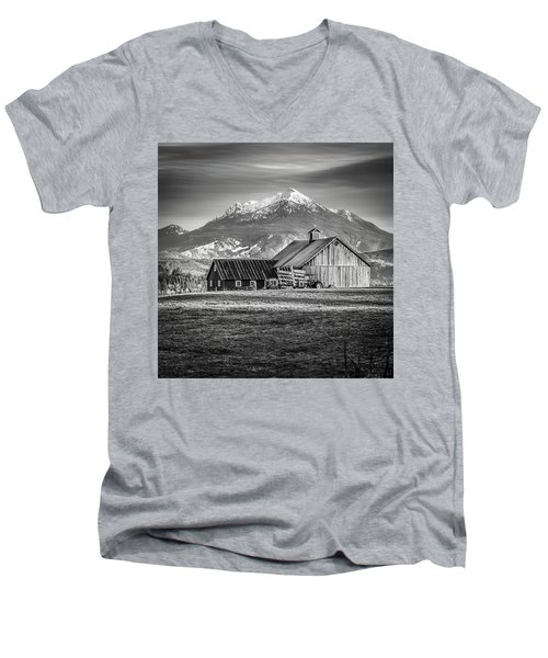 Mt Pilchuck Men's V-Neck T-Shirt by Tony Locke