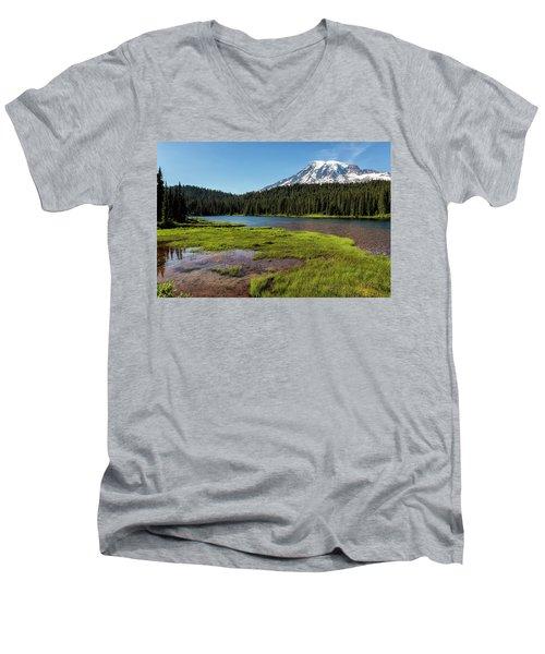Mt Rainier From Reflection Lake, No. 2 Men's V-Neck T-Shirt