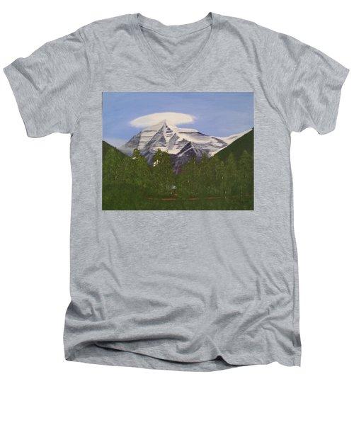 Mt. Robson, Bc Men's V-Neck T-Shirt