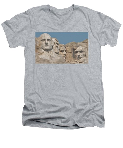 Mt. Rushmore Men's V-Neck T-Shirt