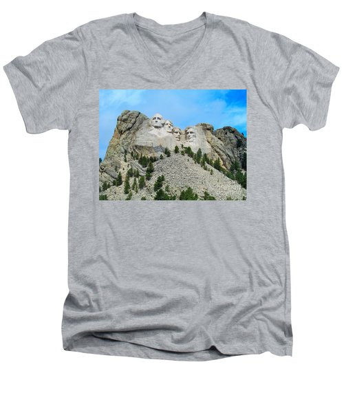 Mt Rushmore Men's V-Neck T-Shirt