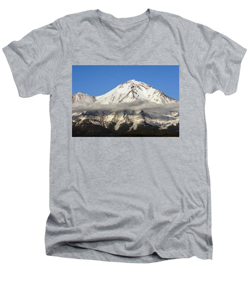 Men's V-Neck T-Shirt featuring the photograph Mt. Shasta Summit by Holly Ethan