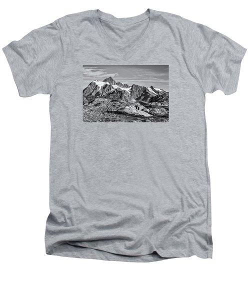Mt. Shuksan Men's V-Neck T-Shirt by Sabine Edrissi