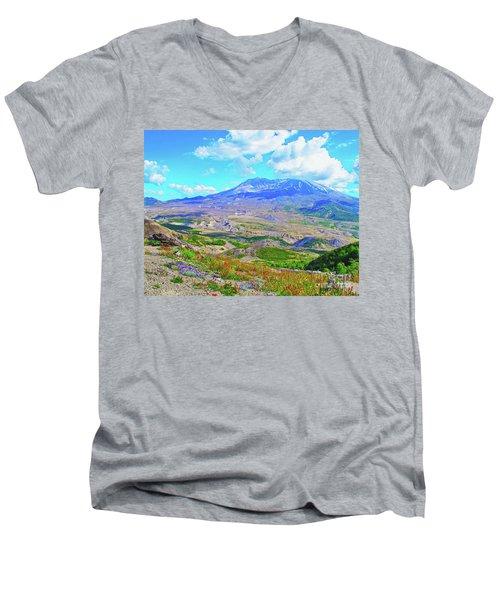 Mt. St. Helens Wildflowers Men's V-Neck T-Shirt