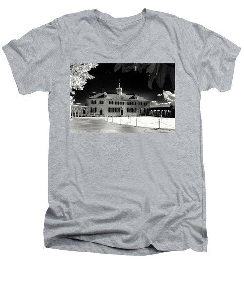 Mt Vernon Men's V-Neck T-Shirt by Paul Seymour