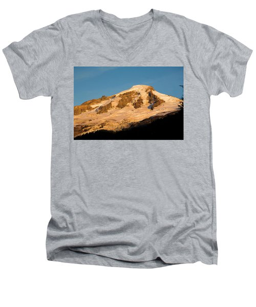 Mt.baker At Sunset  Men's V-Neck T-Shirt