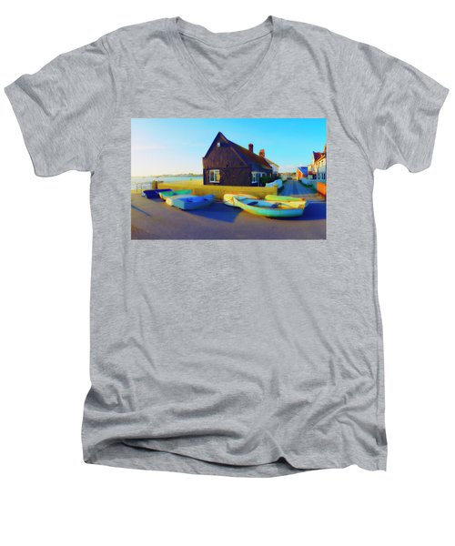 Muddage  Rowers Men's V-Neck T-Shirt by Jan W Faul