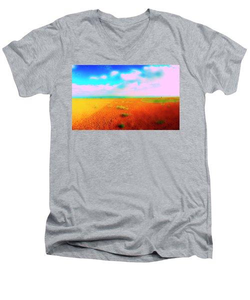 Mulberry Land Men's V-Neck T-Shirt by Jan W Faul