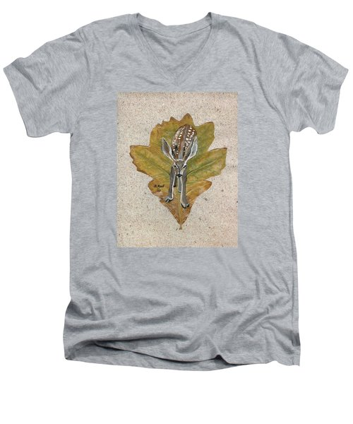 Mule Dear Fawn Men's V-Neck T-Shirt by Ralph Root