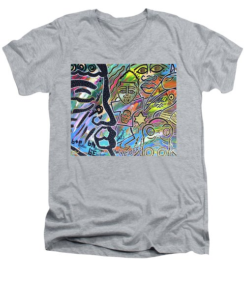 Multi-dimensional Beings Stepping Out The Body Walking Through The Cosmos Men's V-Neck T-Shirt