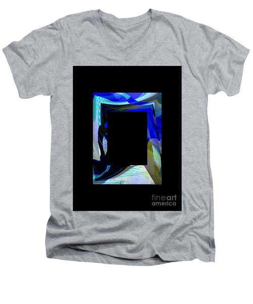Multidimension Men's V-Neck T-Shirt by Thibault Toussaint
