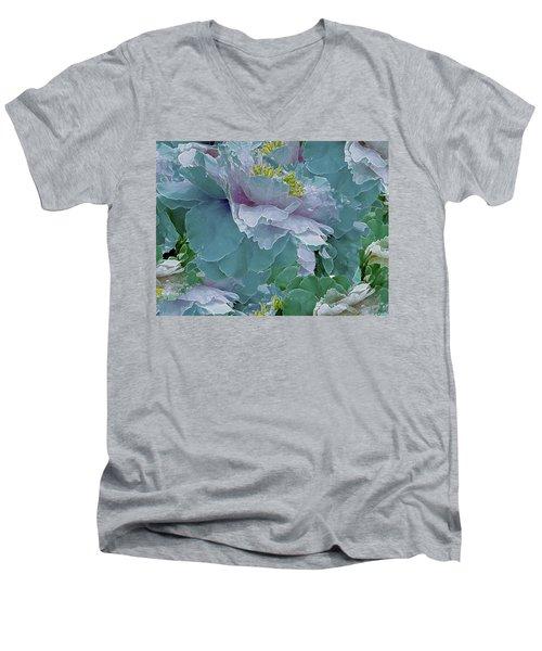 Multiplicity 23 Men's V-Neck T-Shirt by Lynda Lehmann