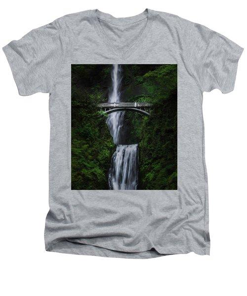 Multnomah Falls Men's V-Neck T-Shirt