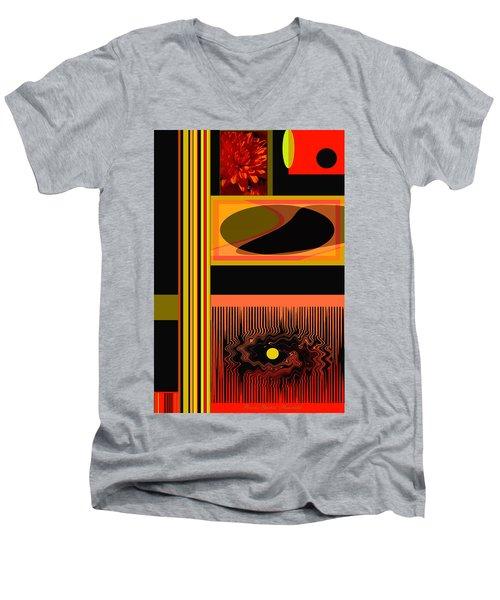 Mum Abstract 1 Men's V-Neck T-Shirt by Brooks Garten Hauschild
