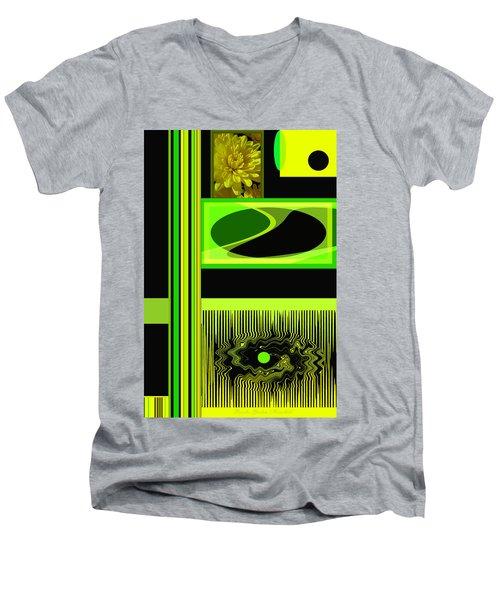 Mum Abstract 5 Men's V-Neck T-Shirt by Brooks Garten Hauschild
