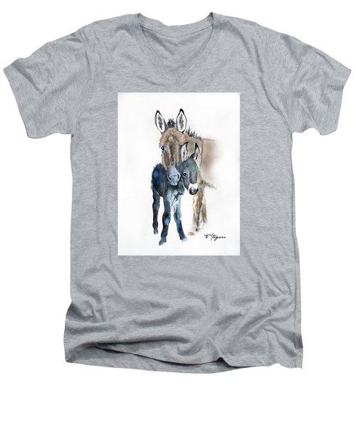 Mummy Donkey Men's V-Neck T-Shirt
