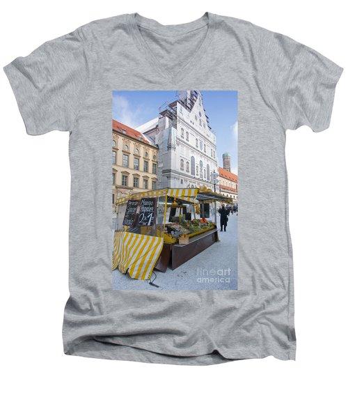 Munich Fruit Seller Men's V-Neck T-Shirt